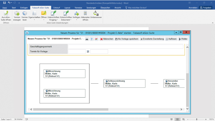 Screenshot Fabasoft eGov-Suite Webseite
