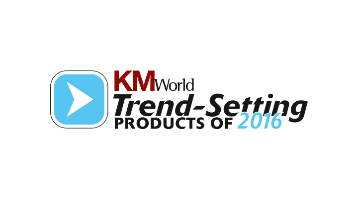 "KM World  Mindbreeze InSite ist ""Trend-Setting Product 2016"""