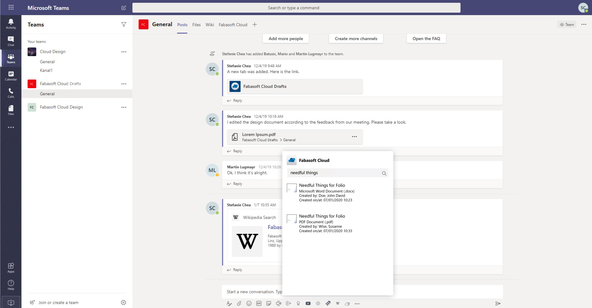 Integration with Microsoft Teams