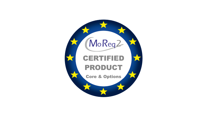 MoReq2 Certified Product