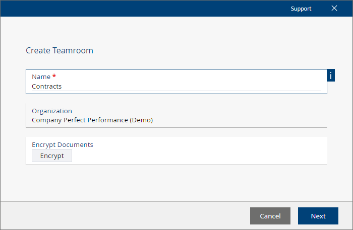 Create a Teamroom in the Fabasoft Cloud