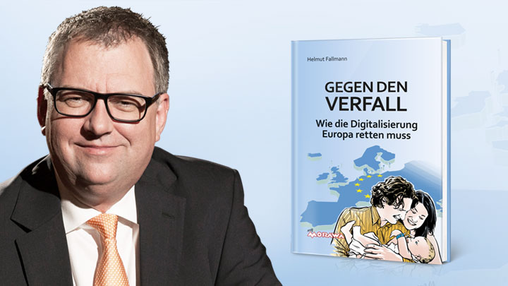 "Helmut Fallmann presented his book ""TACKLING THE DECLINE - How digitisation must save Europe"""