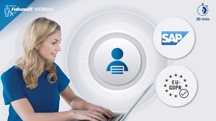 """Five tips on how to use SAP at HR departments in a GDPR-compliant way"" Fabasoft 30-minute webinar"