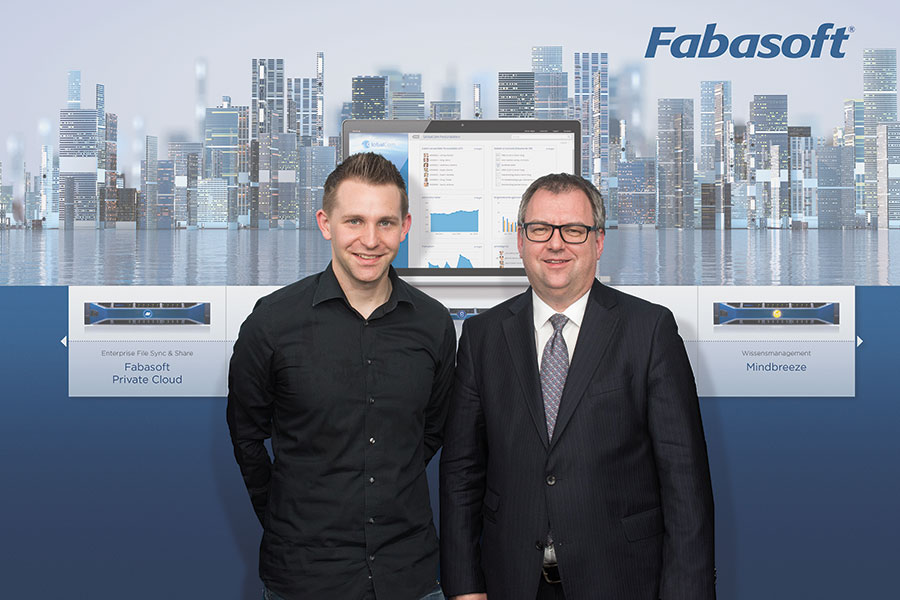 Max Schrems and Helmut Fallmann -  Fabasoft is supporting Max Schrems' data protection NGO NOYB  (photo credit Melina Krobath)