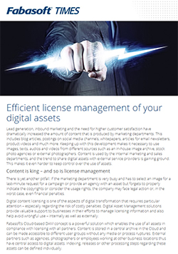 Efficient license management of your digital assets