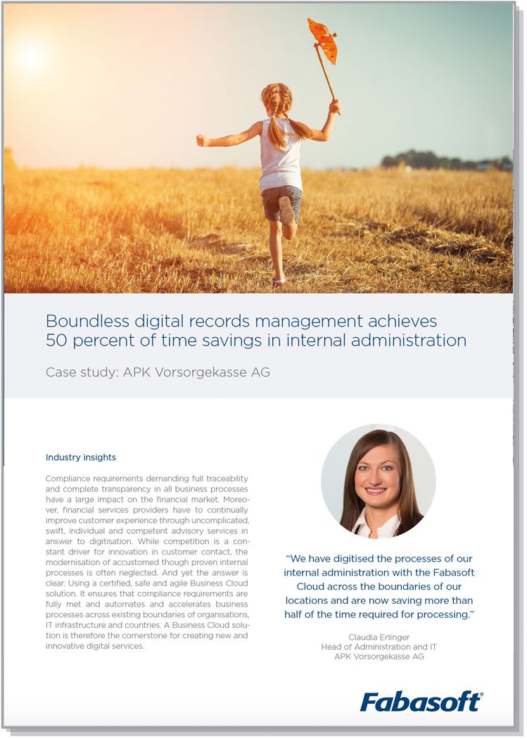 Case Study 50 percent of time savings in internal administration
