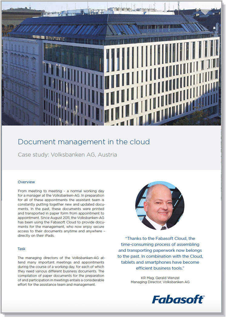 Case Study Document management in the cloud