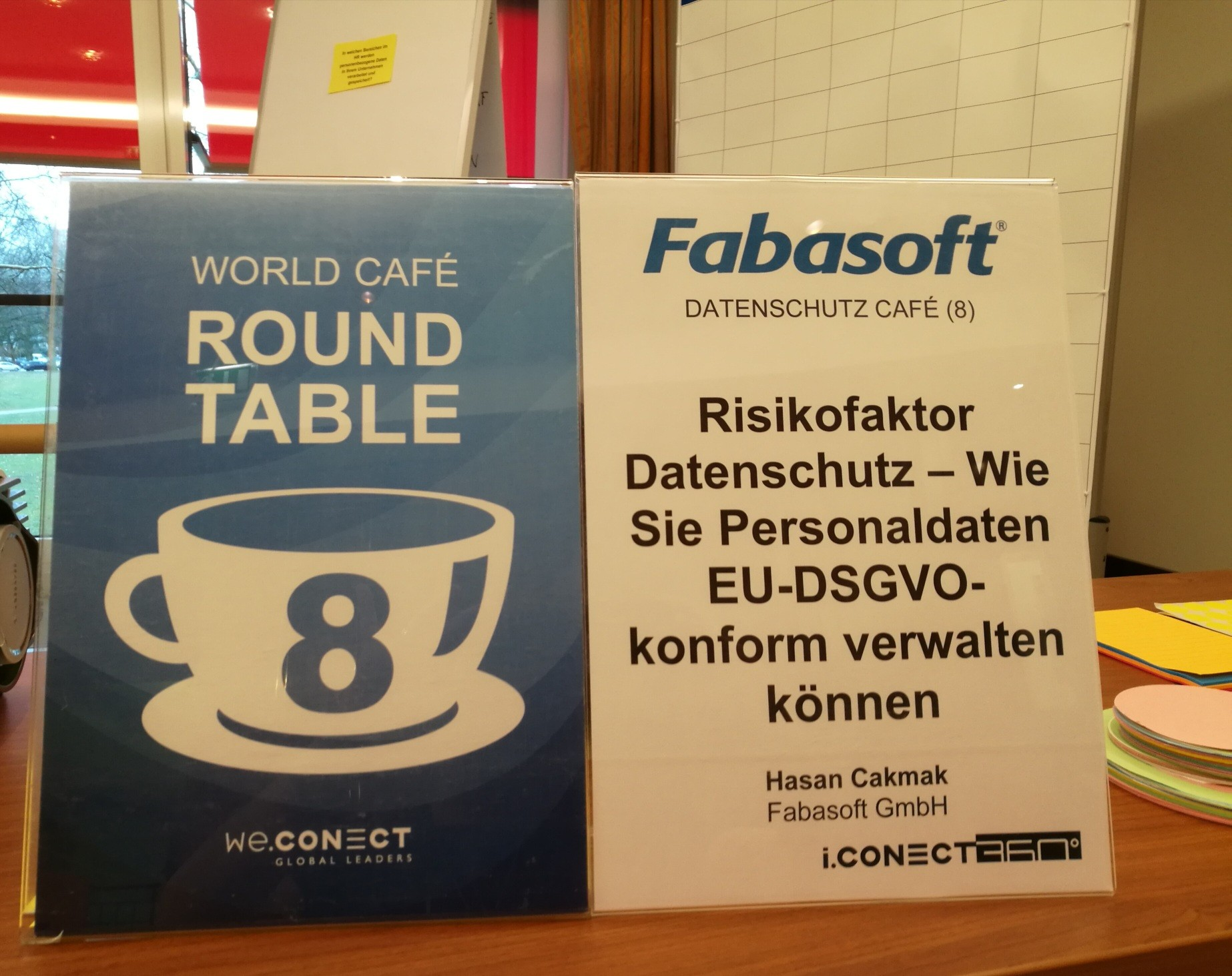 Fabasoft World Café auf der Rethink! HR Tech 2018 in Hamburg