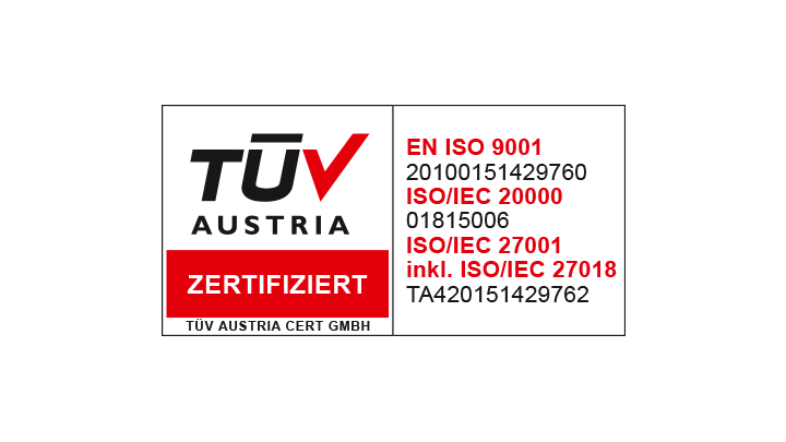 TÜV Austria ISO 20000-1 - IT-Service-Management