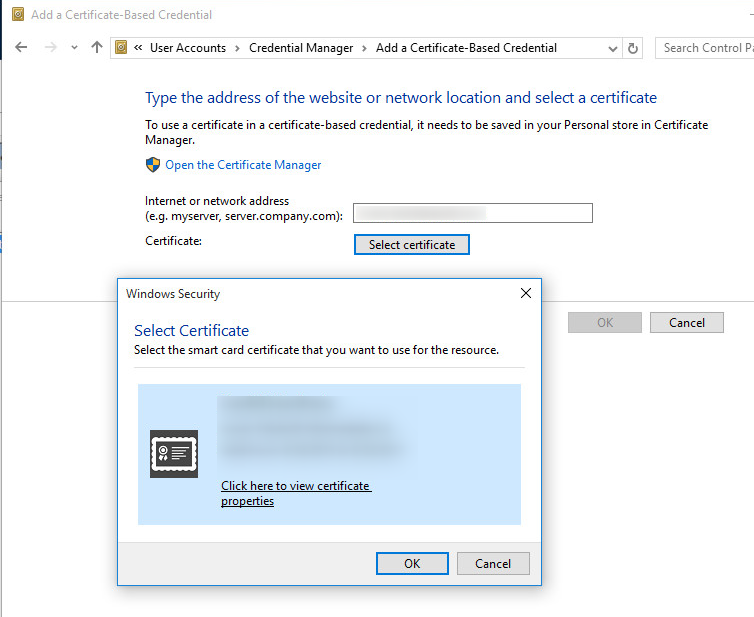 Add Certificate-Based Credential