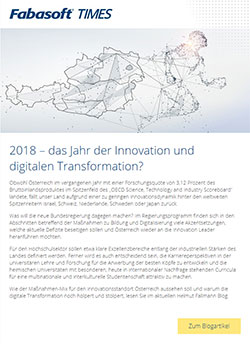 Fabasoft Times Jänner 2018: 2018 – das Jahr der Innovation und digitalen Transformation?