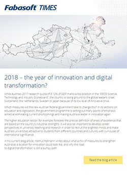 Fabasoft Times 1/2018: 2018 – the year of innovation and digital transformation?